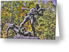 Mississippi At Gettysburg - Defending The Fallen Colors No. 1 Greeting Card