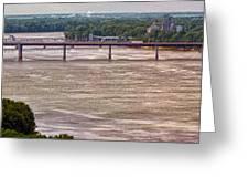 Mississippi River At I-72 Greeting Card