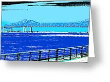 Mississippi River Bridge Poster Greeting Card