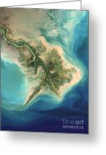 Mississippi River Delta, 2001 Greeting Card