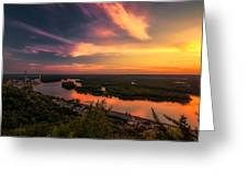 Mississippi River Evening Greeting Card