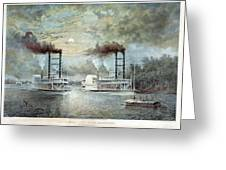 Mississippi River Race, C1859 Greeting Card