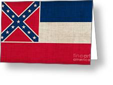 Mississippi State Flag Greeting Card by Pixel Chimp