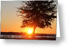 Mississippi Sunset 1 Greeting Card