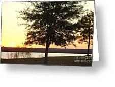 Mississippi Sunset 12 Greeting Card