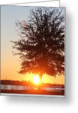 Mississippi Sunset  2 Greeting Card