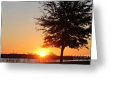 Mississippi Sunset 4 Greeting Card