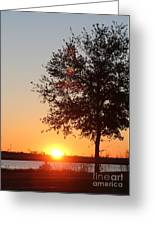 Mississippi Sunset 7 Greeting Card