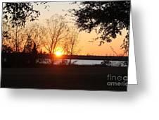 Mississippi Sunset 9 Greeting Card
