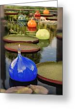 Missouri Botanical Garden Six Glass Spheres And Lilly Pads Img 2464 Greeting Card