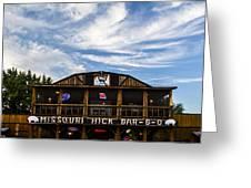 Missouri Hick Bbq Greeting Card