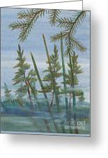 Mist In The Marsh Greeting Card by Robert Meszaros
