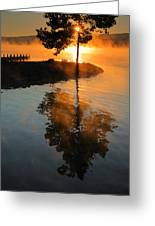 Mist On Fire Greeting Card by Steven Ainsworth