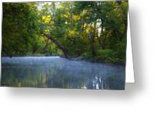 Mist On The Wissahickon Greeting Card