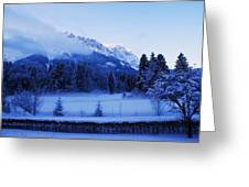 Mist Over Alps Greeting Card