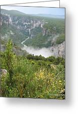 Mist Over Grand Canyon Du Verdon  Greeting Card