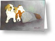 Mista And Chester Greeting Card
