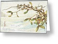 Mistletoe In The Snow Greeting Card