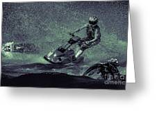 Scary Split-second At Sixty Mph Greeting Card