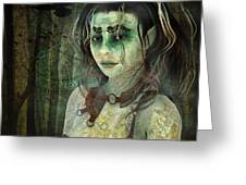 Mistress Of The Dark Woods Greeting Card