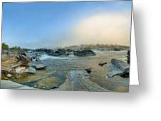 Mists Of Great Falls Greeting Card
