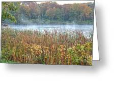 Misty Autumn Morning Greeting Card