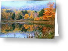 Misty Autumn Pond  Greeting Card