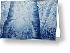 Misty Blue Greeting Card