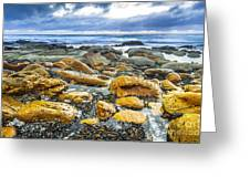 Misty Cliffs II Greeting Card