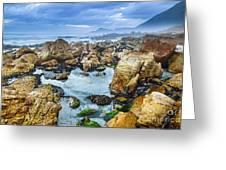 Misty Cliffs Iv Greeting Card