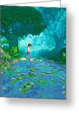 Misty Crossing Greeting Card