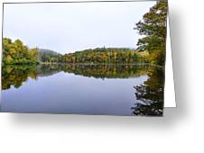 Misty Day Reflection Greeting Card