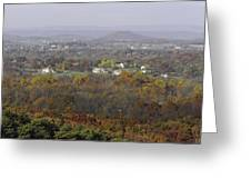 Misty Fall Pano Of The Shenandoah Valley Greeting Card