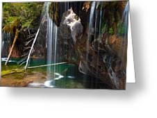Misty Falls At Hanging Lake Greeting Card