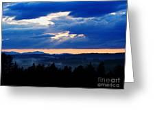 Misty Hills Greeting Card by Steven Valkenberg