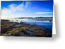Misty Lagoon Greeting Card