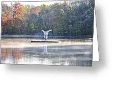 Misty Lake Angel Greeting Card