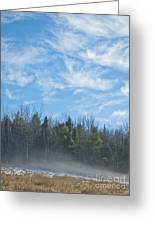 Misty Landscape Greeting Card