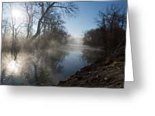 Misty Morning Along James River Greeting Card