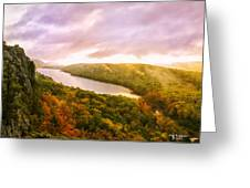 Misty Morning At Lake Of The Clouds Greeting Card