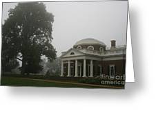 Misty Morning At Monticello Greeting Card