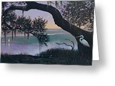 Misty Morning At Seabrook Greeting Card