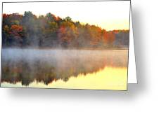Misty Morning At Stoneledge Lake Greeting Card by Terri Gostola