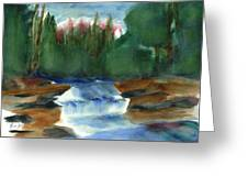 Misty Morning Brook In Hudson Valley Greeting Card