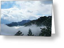 Misty Mountain Colorado Greeting Card