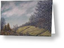 Misty Mountain Valley Greeting Card