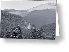Misty Pikes Peak Greeting Card