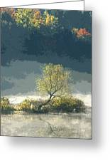 Misty Shadows Greeting Card
