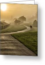 Misty Sunrise  2 Greeting Card