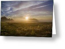 Misty Sunrise At Valley Forge Greeting Card